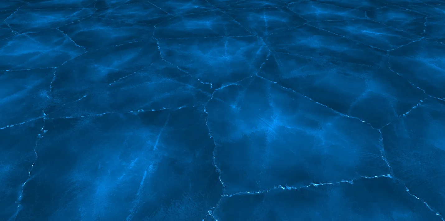 Cracked Ice Shader (using Parallax Effect)